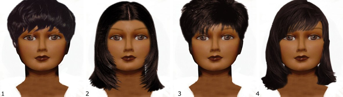 visage rond , coiffure